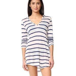 SPLENDID striped hoodie tunic